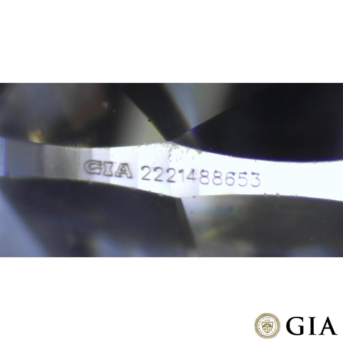 18k White Gold Round Brilliant Cut Diamond Ring 0.91ct F/VVS2